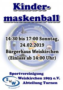 Kindermaskenball @ Bürgerhaus Weiskirchen